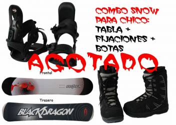 Pack Snow Chico:<br> Tablas...
