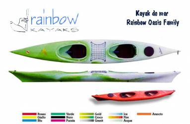Kayak doble de mar Rainbow...