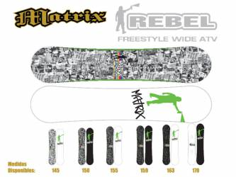 Tablas Snow Matrix Rebel...